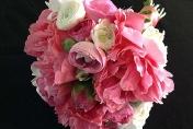 Peony rose wedding bouquet