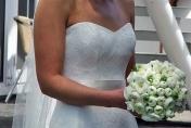 White ranunculus wedding posie