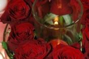 Wedding table floral arrangement