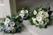 Hand tied wedding bouquet - gerberas with bear grass