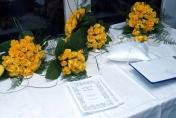 Yellow roses wedding bouquet