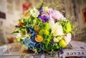 Mixed wedding posie - boho chic style