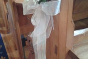 Pew wedding flowers