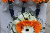 Orange and White Gerberas, Wedding Flowers