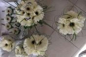 White Gerbera Wedding Flowers
