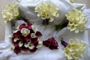 Burgundy wine and white Calla Lily Wedding Bouquet