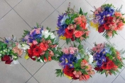 Bridal flowers and Bridemaids  posy  - colours of the rainbow