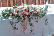 Head flowers  arrangement with trailing Jasmine & roses