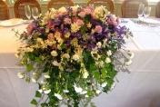 Wedding Church flowers - Head Table