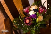 Hand tied wedding bouquet with Proteas