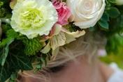 Bridal floral head wreath - boho chic wedding flowers