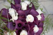 Wedding Flowers, Purple and White