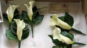 Calla Lilies Wedding Button Holes