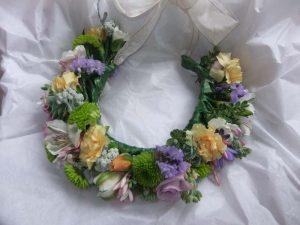 Wedding bridal head wreath - boho chic